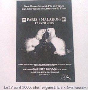 Evènements du CFAF en 2005